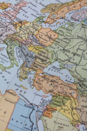 Vintage 1956 map: Europe