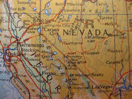 Map Nevada, the Silver State