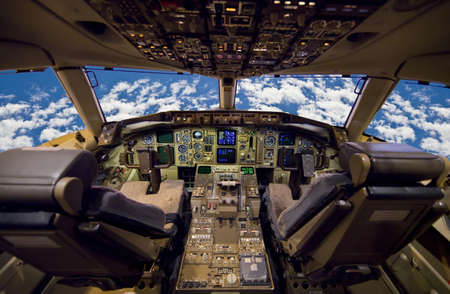 Jet aircraft cockpit