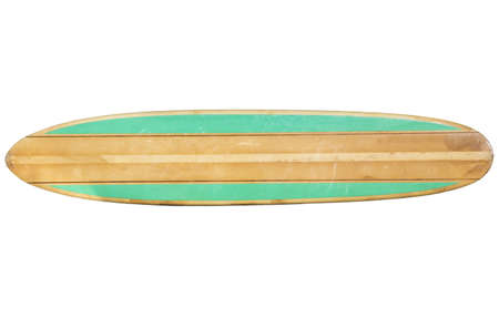 Retro Surfboard isolated on white