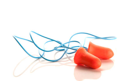 A pair of hearing protection ear plugs