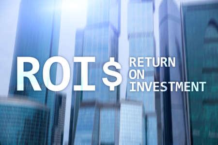 Foto für Return On Investment Financial Management Revenue Concept. Virtual screen background. - Lizenzfreies Bild