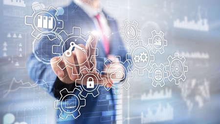 Photo pour Technology innovation and process automation. Smart industry 4.0. - image libre de droit