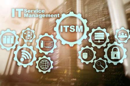 Photo pour ITSM. IT Service Management. Concept for information technology service management on supercomputer background. - image libre de droit