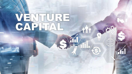 Photo pour Venture Capital on Virtual Screen. Business, Technology, Internet and network concept. Abstract background - image libre de droit