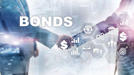 Foto de Bond Finance Banking Technology Business concept. Electronic Online Trade Market Network. - Imagen libre de derechos