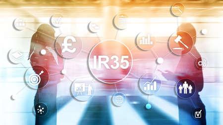 Photo pour IR35 finance concept. United Kingdom tax law, tax avoidance. - image libre de droit