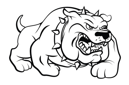 Illustrazione per Bull Dog Vector Illustration - Immagini Royalty Free