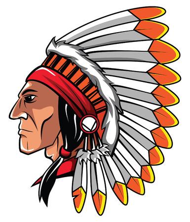 Illustration pour Apache Head - image libre de droit