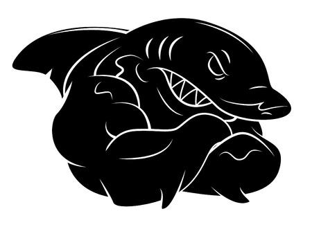 Illustration pour Shark tattoo - image libre de droit