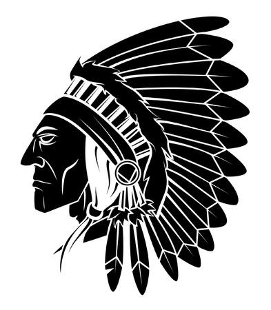 Illustration pour Apache Head Vector Illustration - image libre de droit