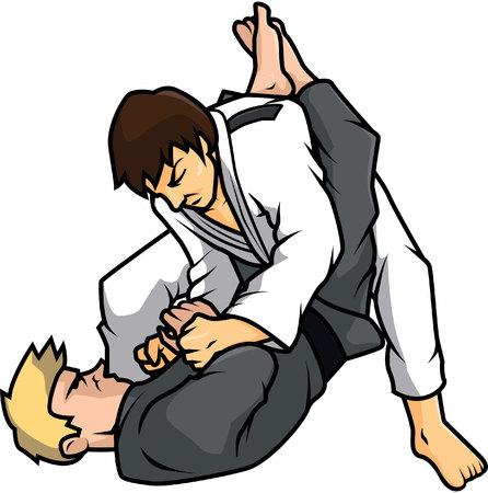 jiu jitsu training illustration design