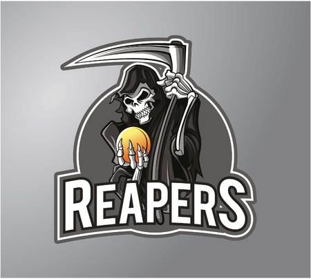 Illustration pour Reaper Illustration design badge - image libre de droit