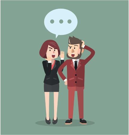 Ilustración de Business man gossip - Imagen libre de derechos