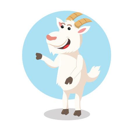 goat character vector illustration design