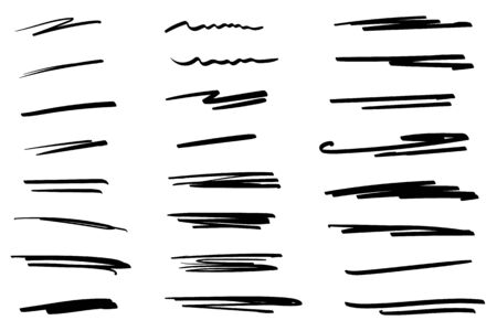 Illustration pour Hand-drawn collection of doodle style various shapes. Art Lines. Isolated on white. Vector illustration - image libre de droit