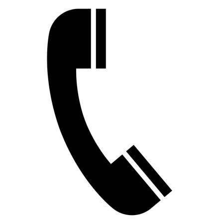 Illustration pour Black vector sign of telephone receiver. - image libre de droit