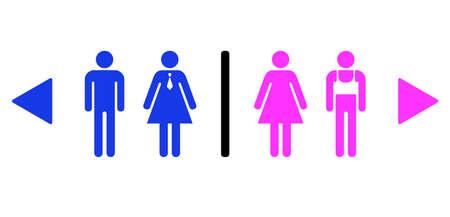 Joke vector signs for gay bar toilet