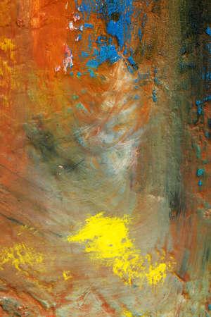 Photo pour Background image of bright oil-paint palette closeup - image libre de droit
