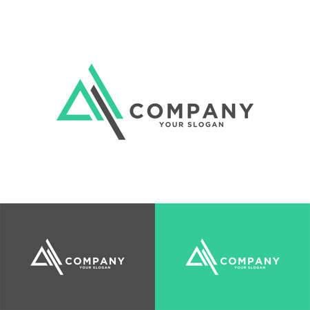 Illustration for triangle or letter for business - Royalty Free Image