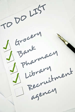 Recruitment agency not checked in to do list