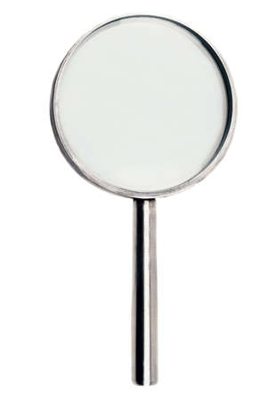 Isolated magnifying glass on white background