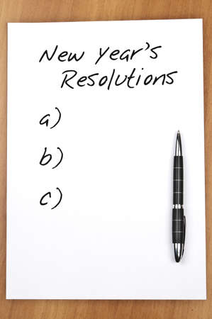 Empty new year resolutions and a pen