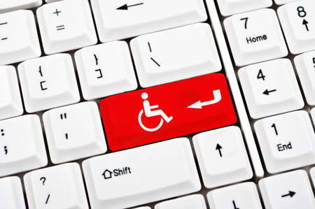 Handicap sign in place of enter key