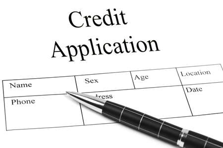 Credit Application and an pen