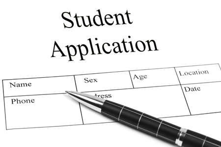 Student Application and an pen