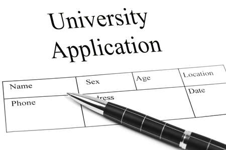 Univeristy Application and an pen