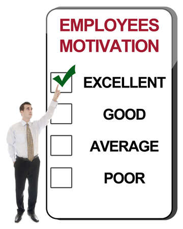 Business man pointing Employees Motivation