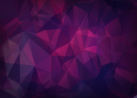Abstract vector background of triangles polygon wallpaper. Web design in bright pink purple colors