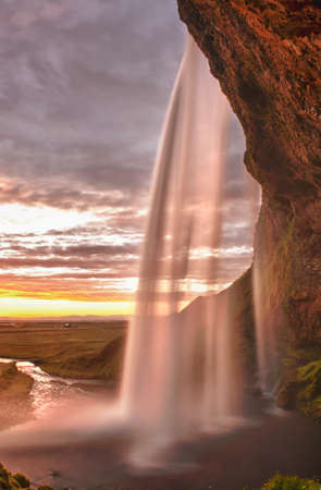 Seljalandsfoss is one of the most beautiful waterfalls on the Iceland. It is located on the South of the island