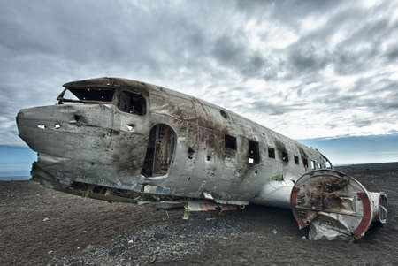 Wreck of a US military plane crashed in the middle of the nowhere.