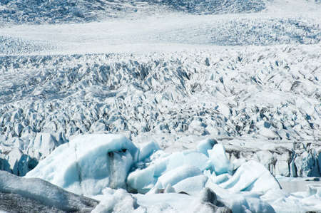 Detailed photo of the Icelandic glacier ice with a nice texture