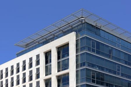 Facade of a modern building in Marseille La Joliette