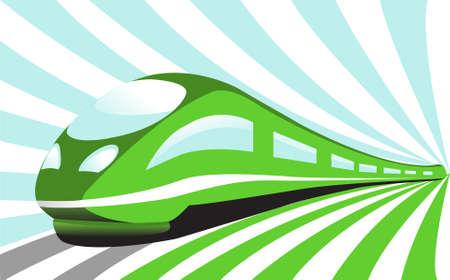 Illustration pour High-speed train - image libre de droit