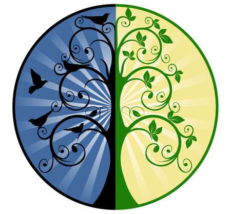 Illustration pour Tree of Life and Death - image libre de droit