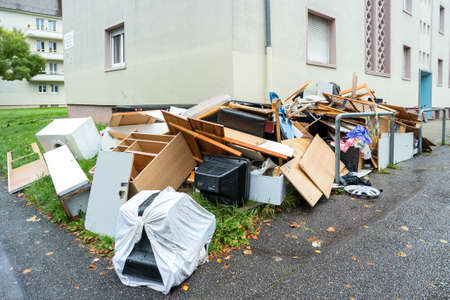 Photo for Big pile of old broken furniture - Royalty Free Image