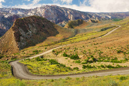 A beautiful scenic view of Cottonwood Canyon Road, Grand Staircase-Escalante National Monument, Utah.