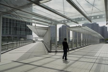 Photo pour Transparent roofed corridors - image libre de droit
