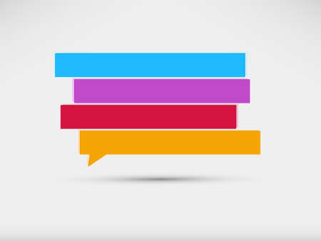 Illustration for speech bubbles banner - Royalty Free Image