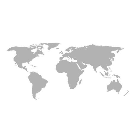 Illustration pour Gray world map on white background - image libre de droit