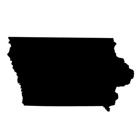 map of the U.S. state Iowa