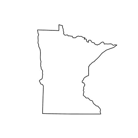 Ilustración de Map of the U.S. state Minnesota - Imagen libre de derechos