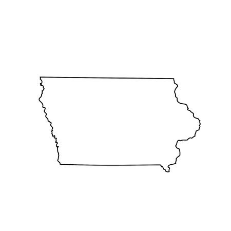 Photo pour map of the U.S. state Iowa - image libre de droit