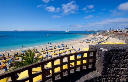 The Playa Blanca beach  Lanzarote island