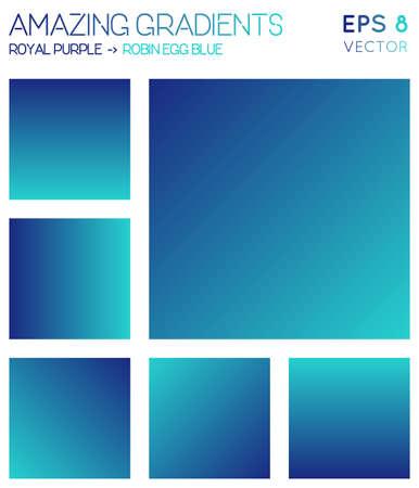 Illustration pour Colorful gradients in royal purple, robin egg blue color tones. Actual gradient background, extra vector illustration. - image libre de droit