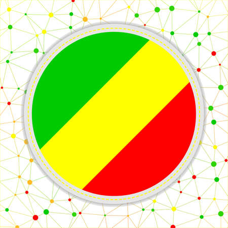 Flag of Congo with network background. Congo sign. Appealing vector illustration.